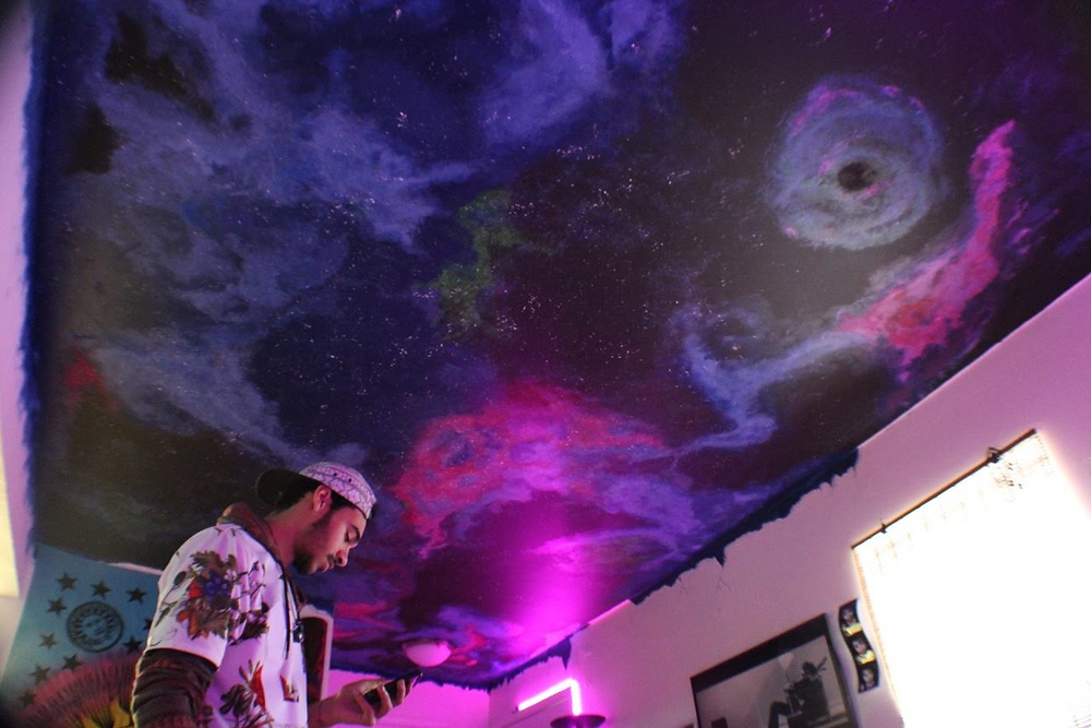 Ceiling mural, by Brandon Doyle