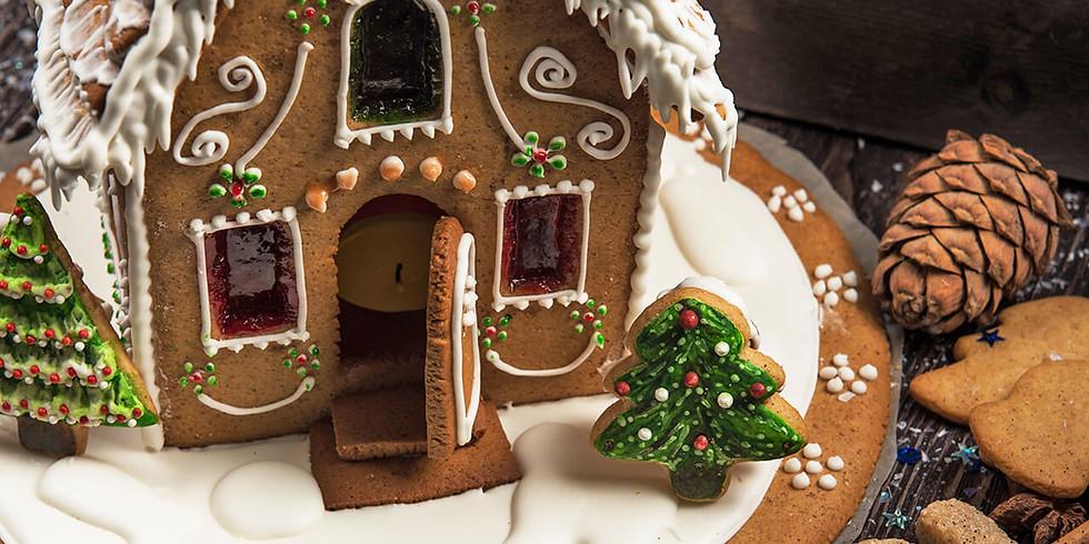 Taller de Casa de Jengibre para Navidad