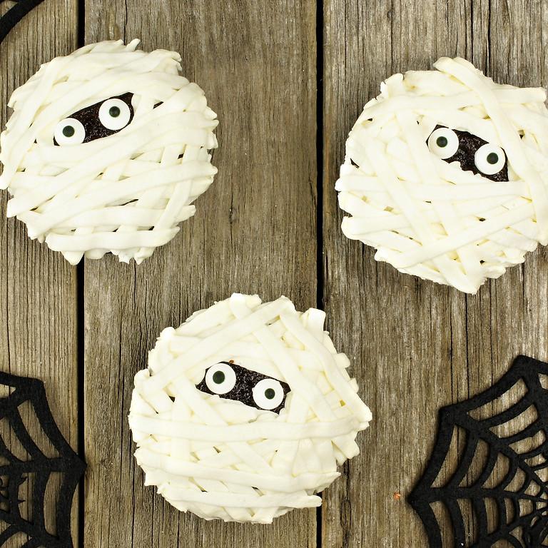 Taller Halloween decoración galletas y cupcakes
