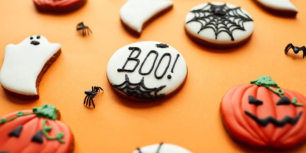 Taller Halloween para niños de galletas y Cupcakes