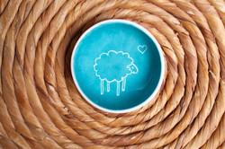 coupelle mouton bleu