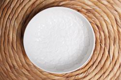 grande coupelle napperon blanche