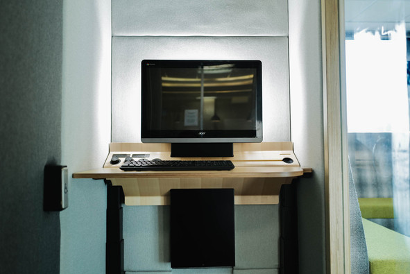 Height-adjustable table and monitor