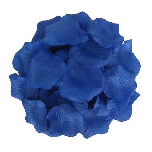 100 Pieces Silk Deep Blue Rose Petals