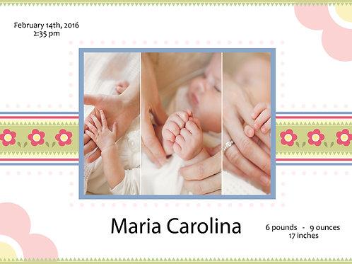 Birth Announcement Style 7