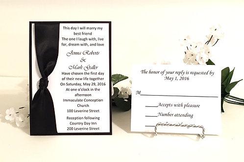 Black & White Invitation Set