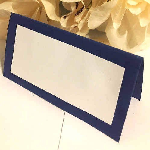 Blue & White Place Cards - Blank or Personalized