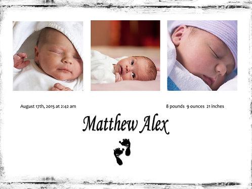 Birth Announcement Style 10