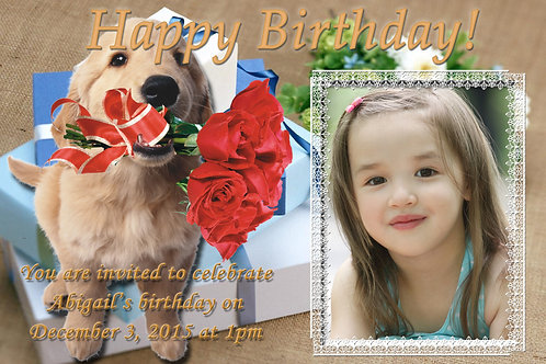 Pet Lover Invitation Design (Includes Envelopes) - As low as $0.99