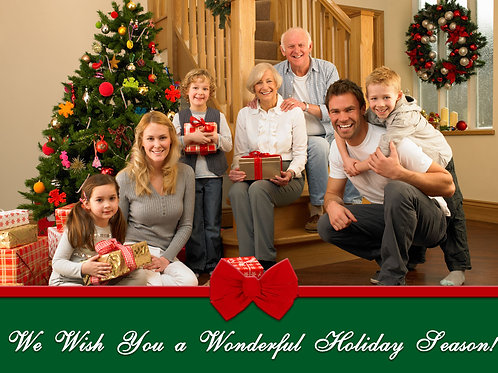 Wrapped Photo Holiday Cards (Includes Envelopes) As low as $0.79 each