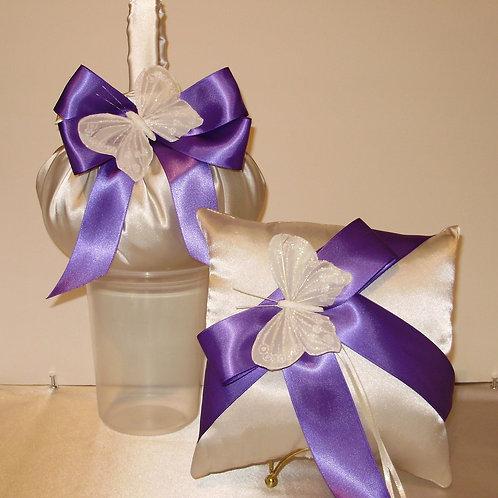 Gorgeous Butterfly Ring Pillow,Flower Girl Basket