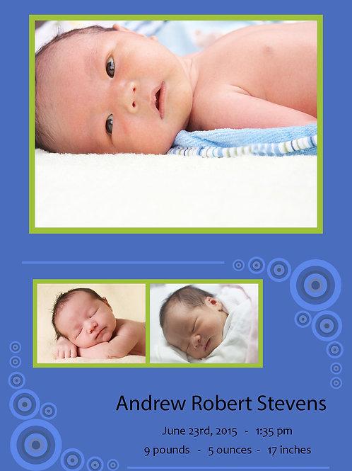 Birth Announcement Style 2
