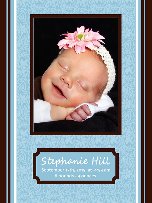Birth Announcement Style 12