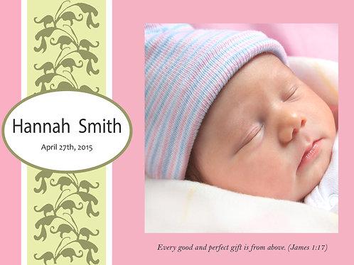Birth Announcement Style 3
