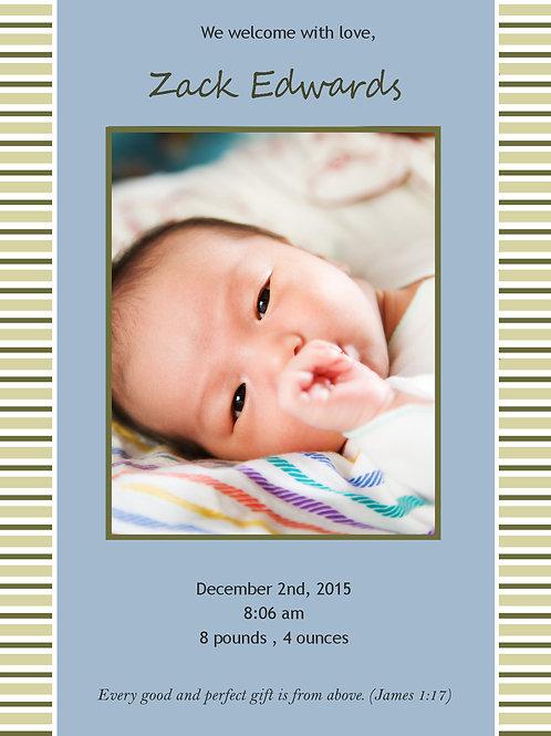 Birth Announcement Style 11