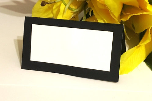 Black & White Place Card - Blank or Personalized