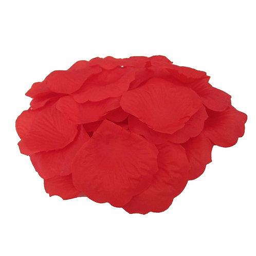 100 Pieces Silk Red Rose Petals