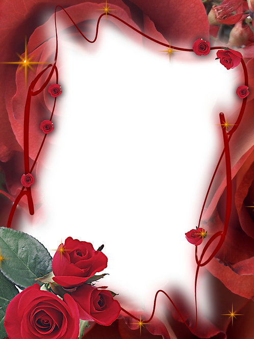 Border of Red Roses - As low as $0.99 each
