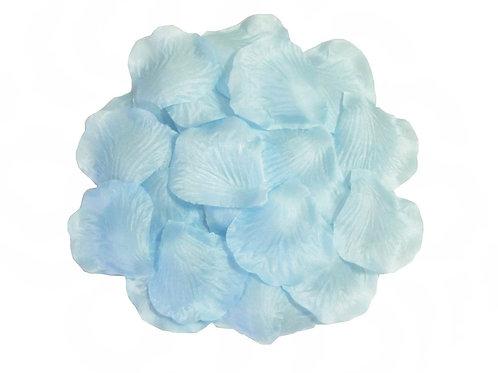 100 Pieces Silk Baby Blue Rose Petals