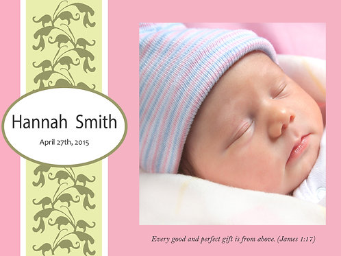 Birth Announcement Style 4 (Includes Envelopes) - As low as $0.99 each