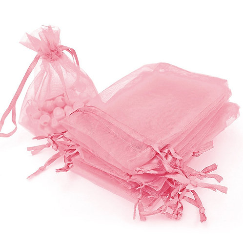 Pink Organza Gift Bags Wedding Favor Bags Jewelry Pouches