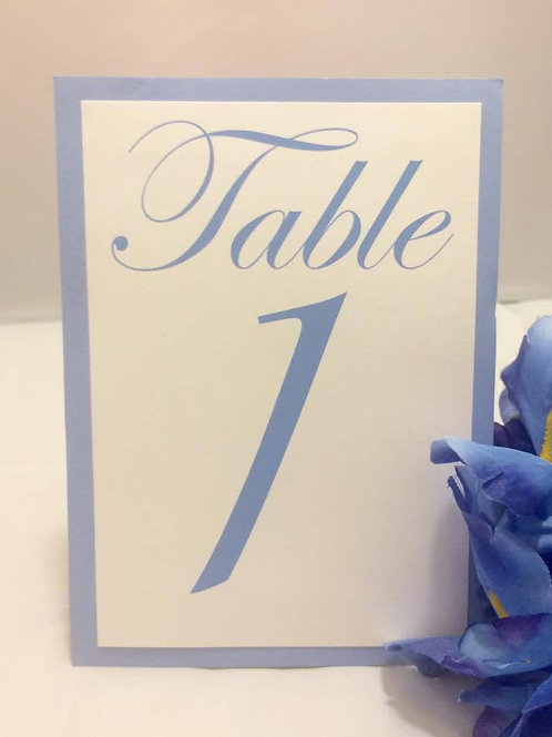 copy of Pink & White Table Numbers