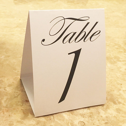 Standing Table Numbers Number 1-30