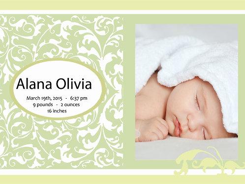 Birth Announcement Style 5