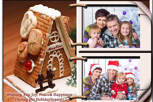 Gingerbread House Holiday Cards (Includes Envelopes) As low as $0.79 each