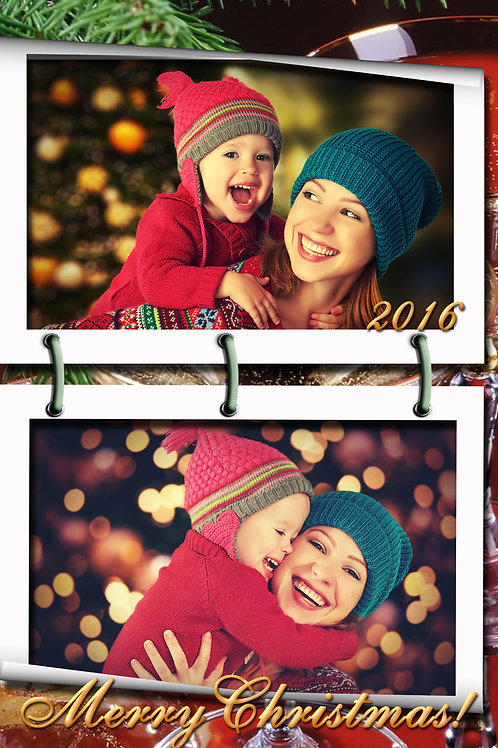 Photo Album Holiday Cards (Includes Envelopes) As low as $0.79 each