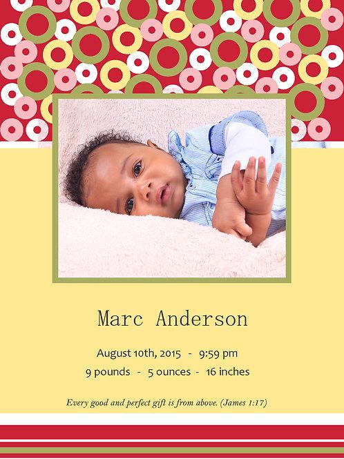 Birth Announcement Style 6