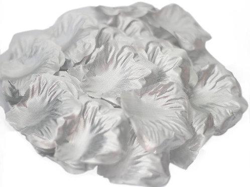 100 Pieces Silk Silver Rose Petals