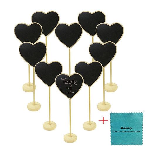 Wedding Party Favor Mini Heart-Shape Chalkboard, 10pcs