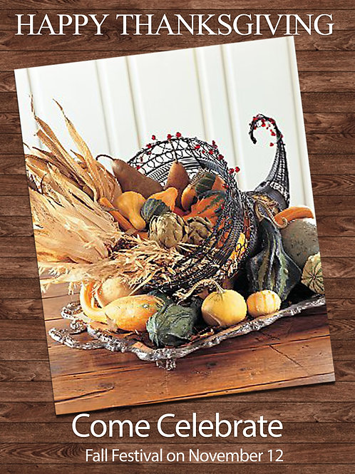 Fall Plants Design Invitations  (Includes Envelopes) As low as $0.79 each