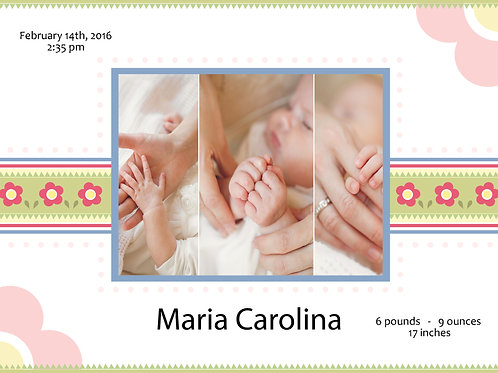 Birth Announcement Style 8 (Includes Envelopes) - As low as $0.99 each