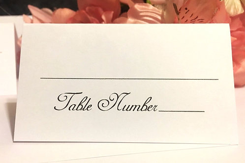 Reception Place Cards, Blank or Personalized