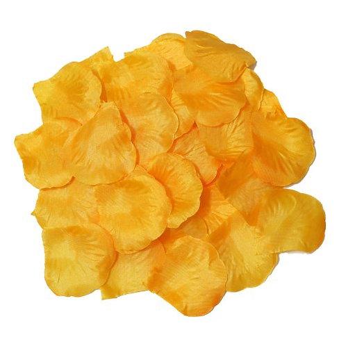 100 Pieces Silk Yellow Rose Petals