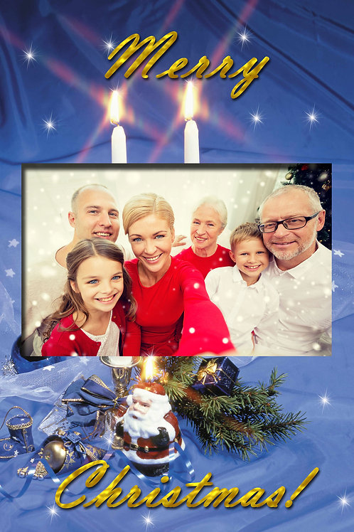 Candlelit With Santa Holiday Cards (Includes Envelopes) As low as $0.79 each
