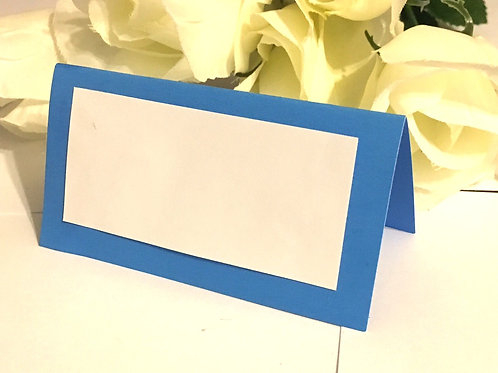 Lt Blue Place Cards - Blank or Personalized