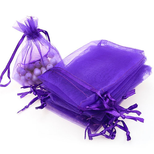 Purple Organza Gift Bags Wedding Favor Bags Jewelry Pouches, Starting at $12.99