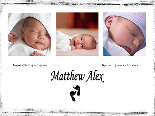 Birth Announcement Style1 (Includes Envelopes) - As low as $0.99 each