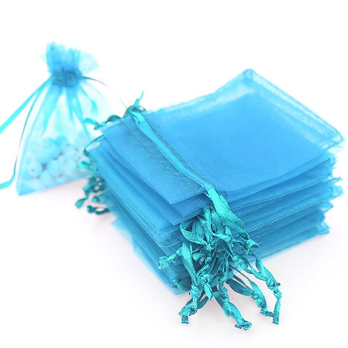 Lt Blue Organza Gift Bags Wedding Favor Bags Jewelry Pouches, Starting at $12.99
