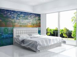 Bedroom wall mural
