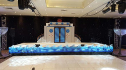 Custom made stage and waves
