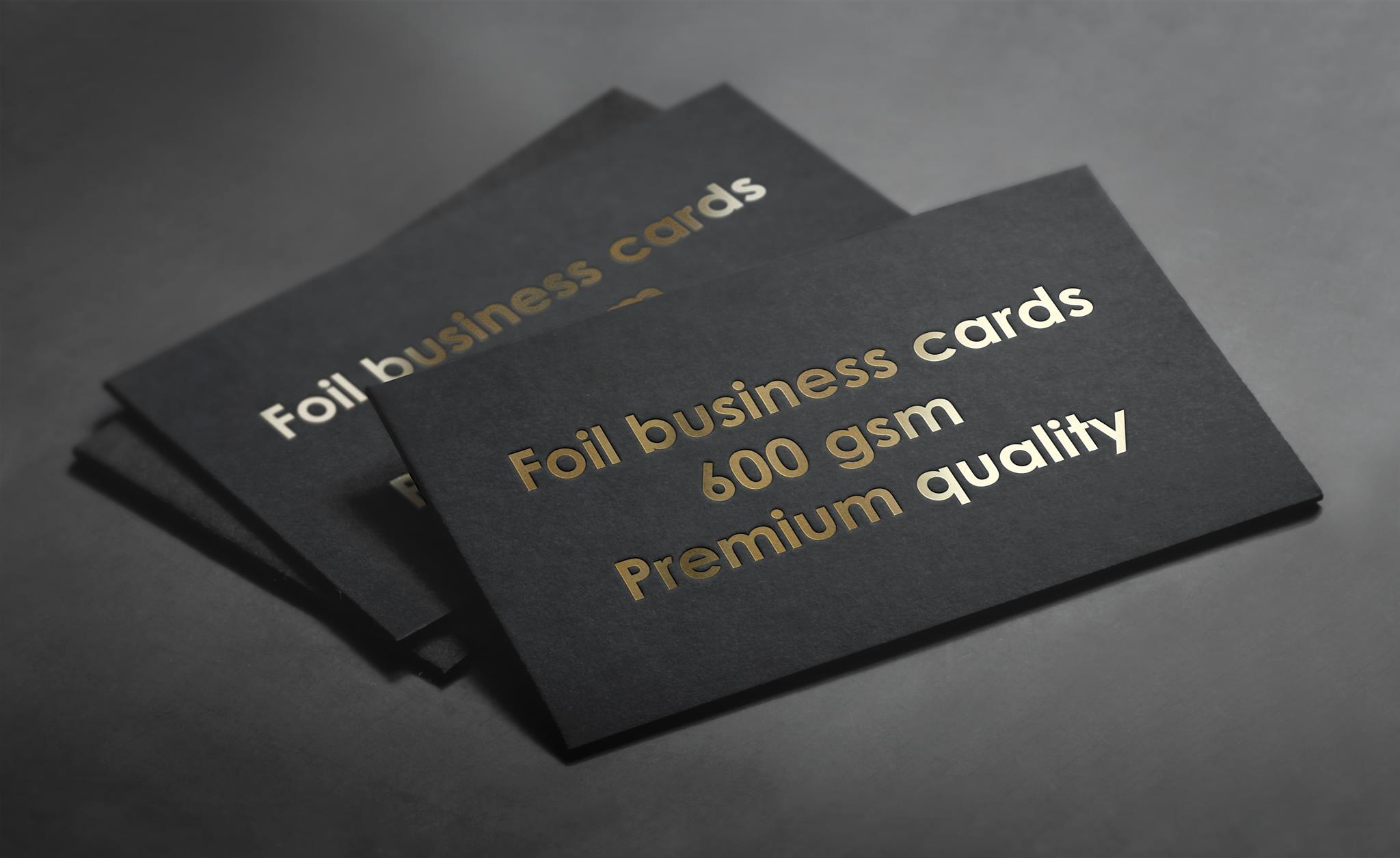 Hot foiled business cards