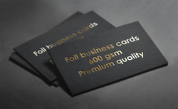 Hot foiling business cards