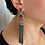 Thumbnail: Black Long Tassel Earrings