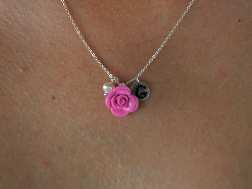 ROSE PEARL PERSONALIZED NECKLACE