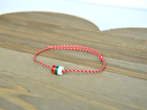 Bulgarian Flag Martenitsa Bracelet