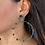 Thumbnail: Big Green Hoop Earrings